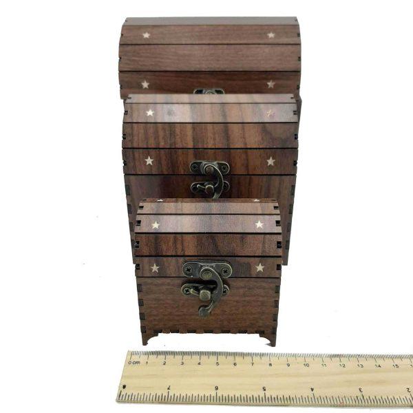 صندوقچه چوبی سه تایی