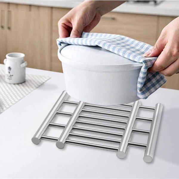 زیر قابلمه ای استیل کشویی