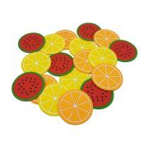 زیر لیوانی طرح میوه