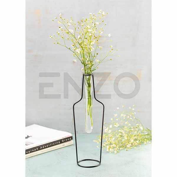 گلدان فلزی طرح بطری انزو