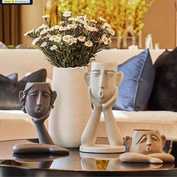 گلدان 3 تایی چهره آدمک خانواده