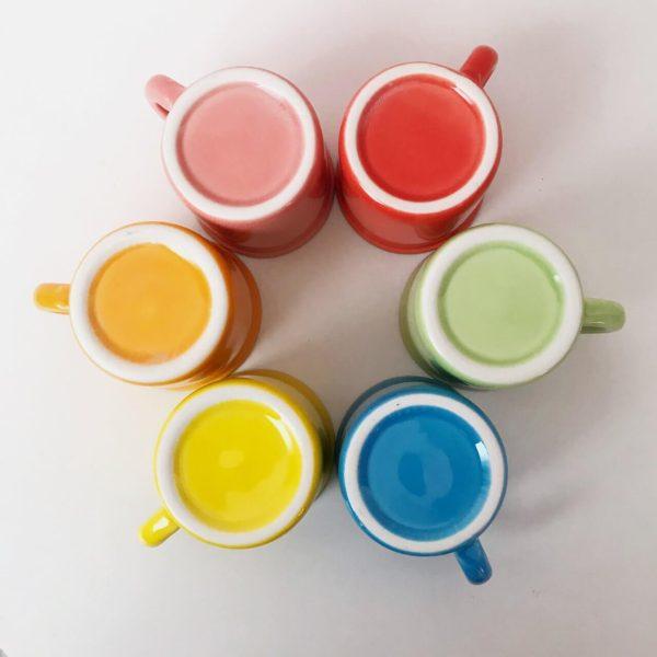 فنجان قهوه خوری کاپ قهوه رنگی ویرگولشاپ
