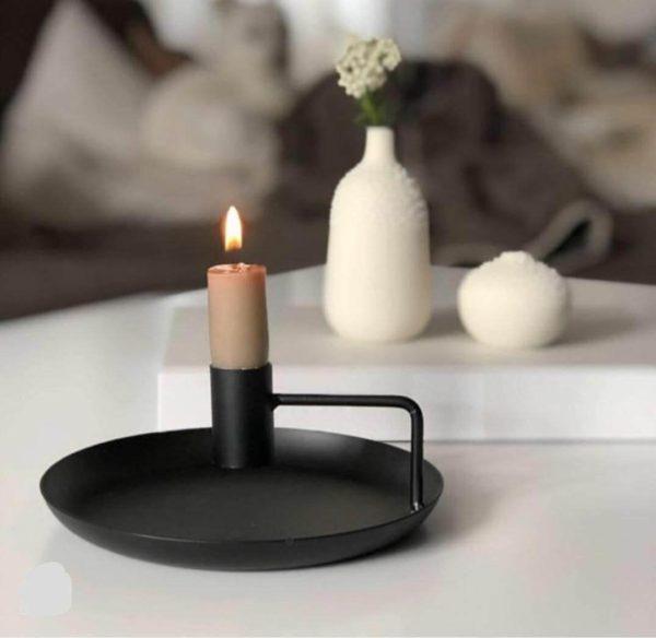 جا شمعی رو میزی بشقاب دار